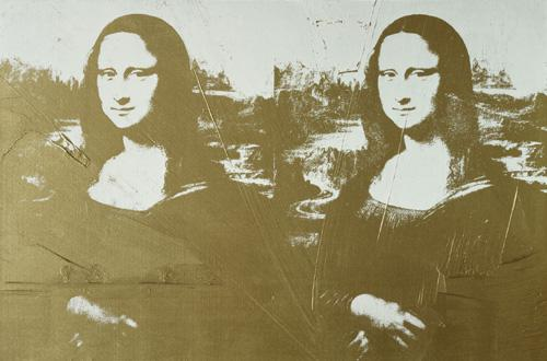 Andy Warhol / Dvojitá zlatá Mona Lisa