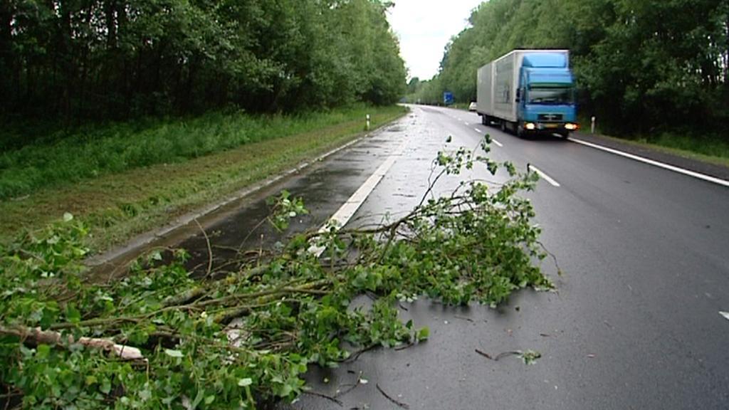 Následky bouřky na Chebsku
