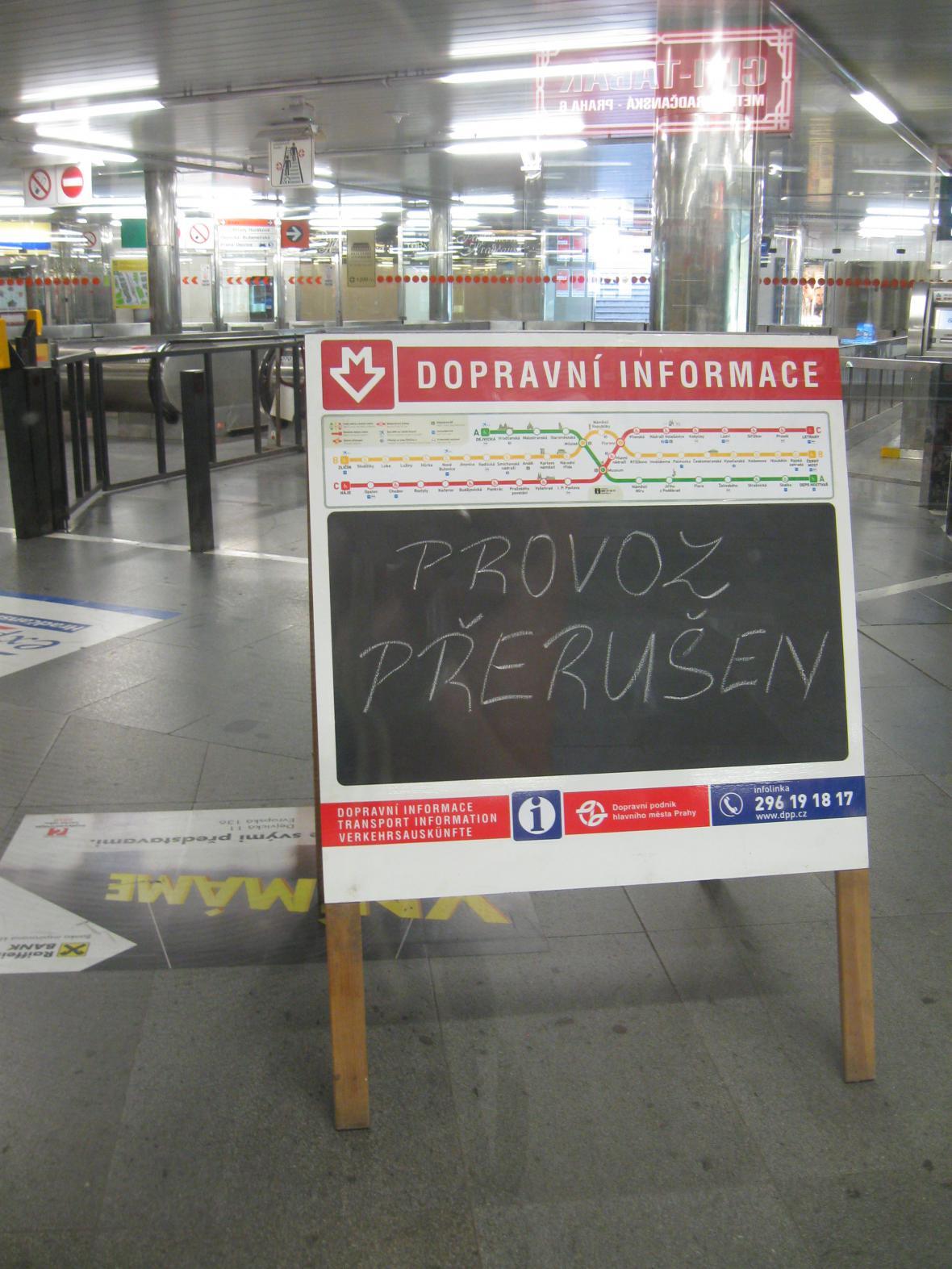 Zastavené metro