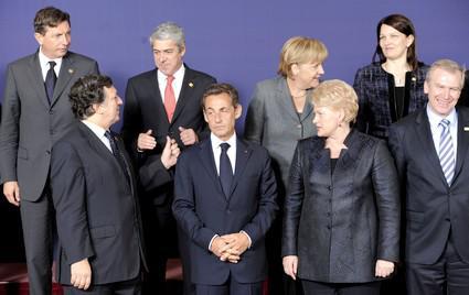 Evropští politici na summitu EU