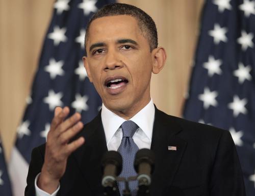 Barack Obama přednesl projev o situaci na Blízkém východě