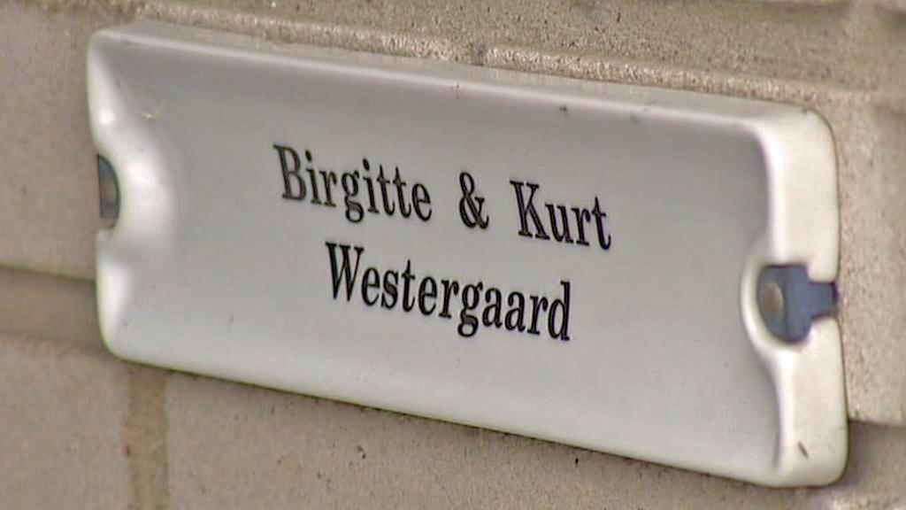 Zvonek u bytu Kurta Westergaarda