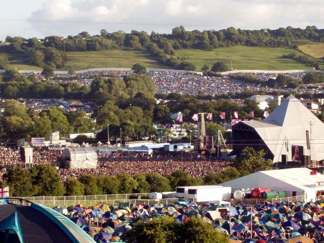 Hudební festival v Glastonbury