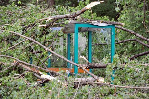 Řádění tornáda na Pardubicku