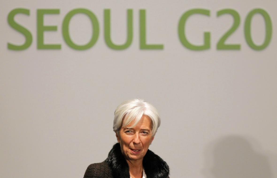 Christine Lagardeová  na summitu G20