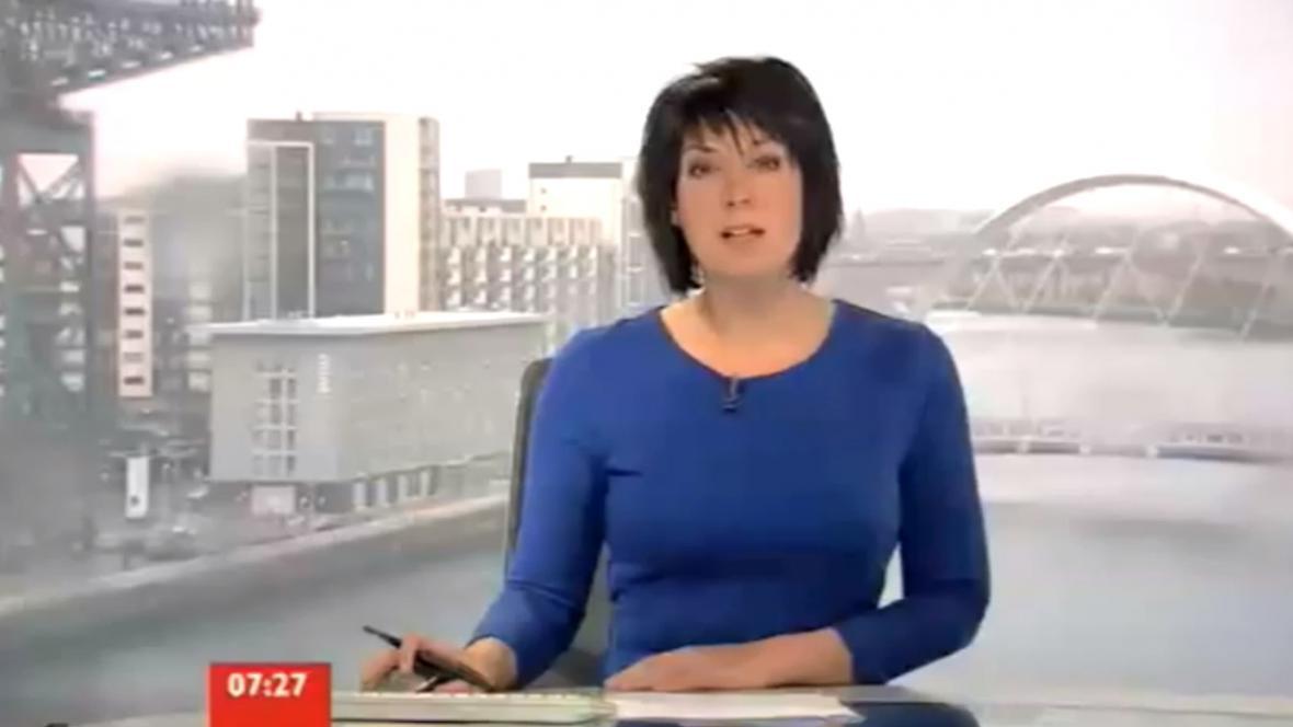 Moderátorka skotské BBC čelí zmatkům ve vysílání