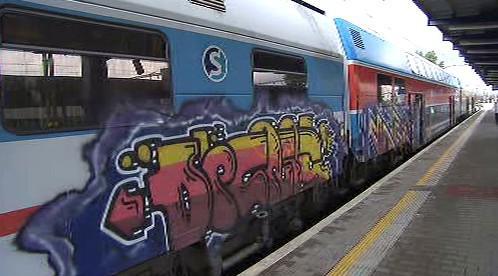 Graffiti na vlaku