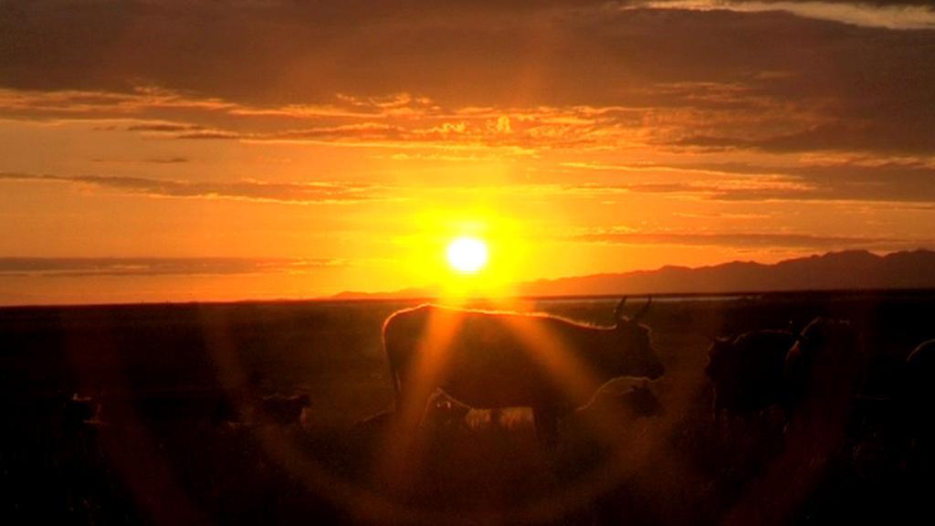 Západ slunce v Mongolsku