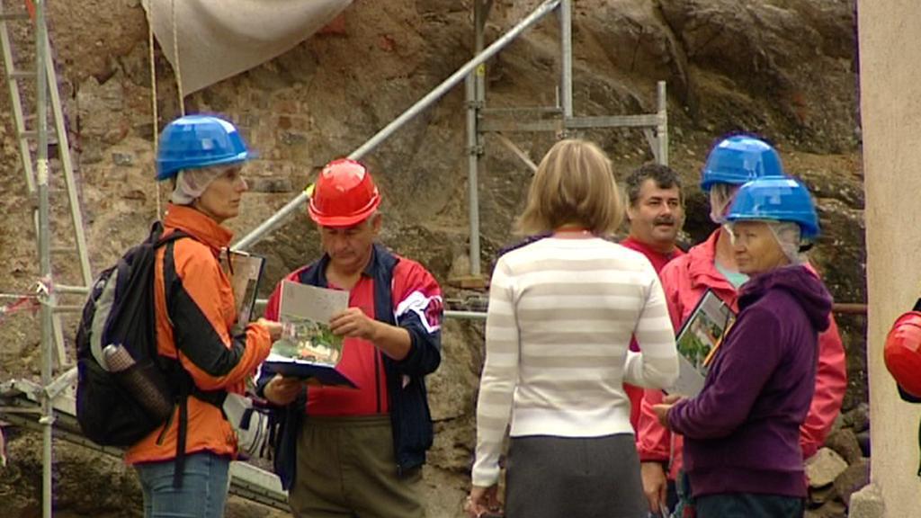 Návštěvníci hradu