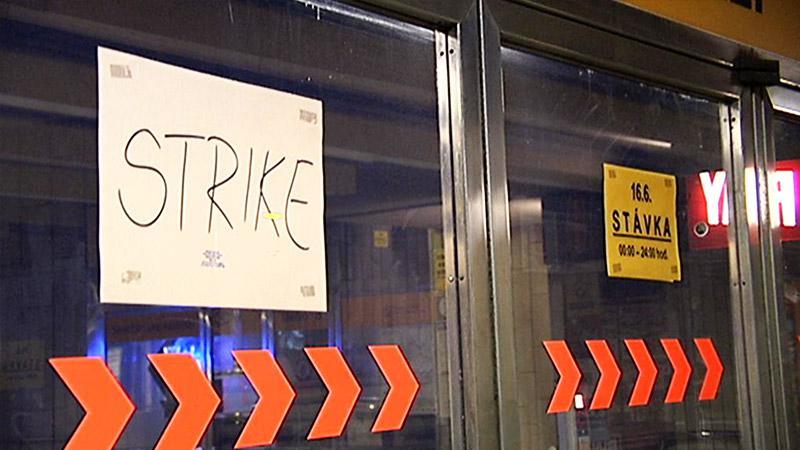 Protest v metru
