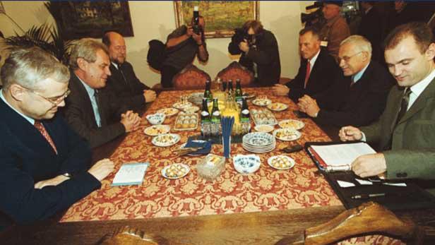 Jednání ODS a ČSSD (Klaus - Zeman)