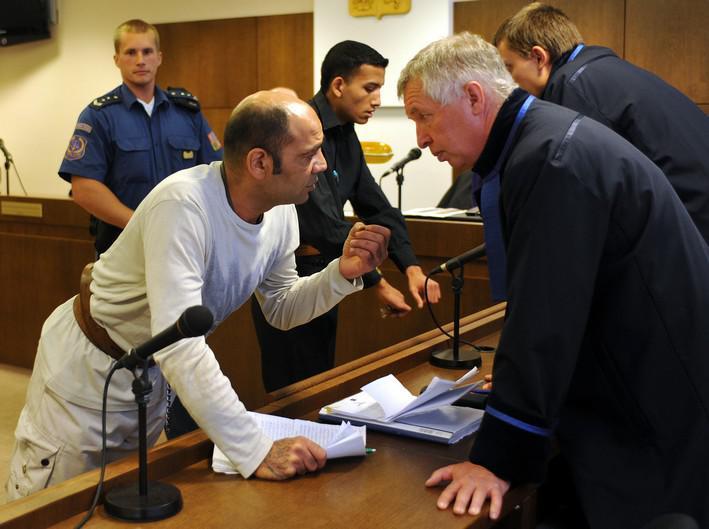 Tomáš Pešta a Julius Žiga u soudu