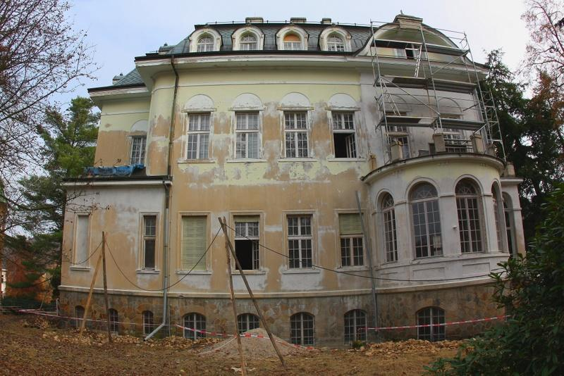 Becherova vila před rekonstrukcí