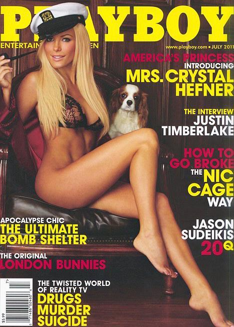 Crystal Harrisová na obálce Playboye