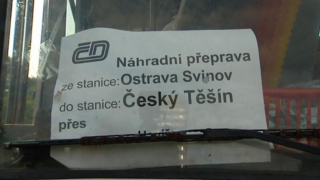 Náhradní autobusová doprava do Českého Těšína
