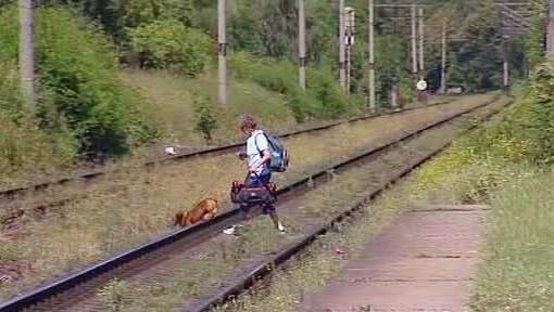 Přecházení trati