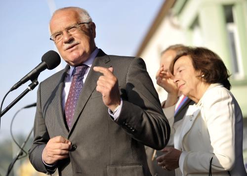 Václav Klaus se svojí ženou Livií