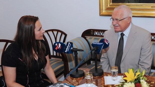 Václav Klaus hostem Radiožurnálu