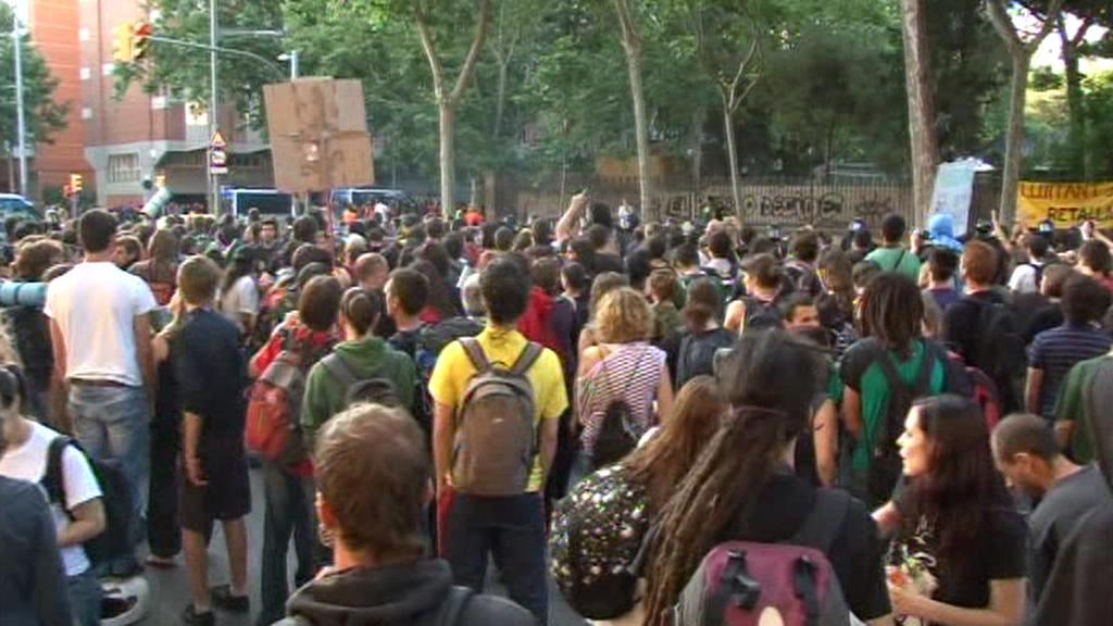 Pouliční protesty ve Španělsku