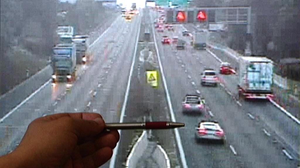 Záběry dálniční kamery