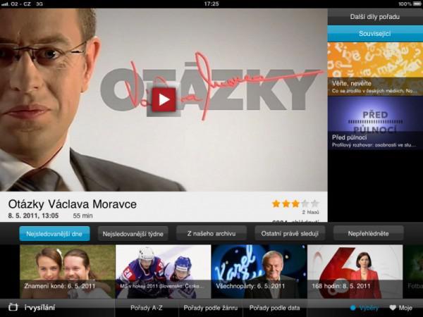 iVysílání v iPadu
