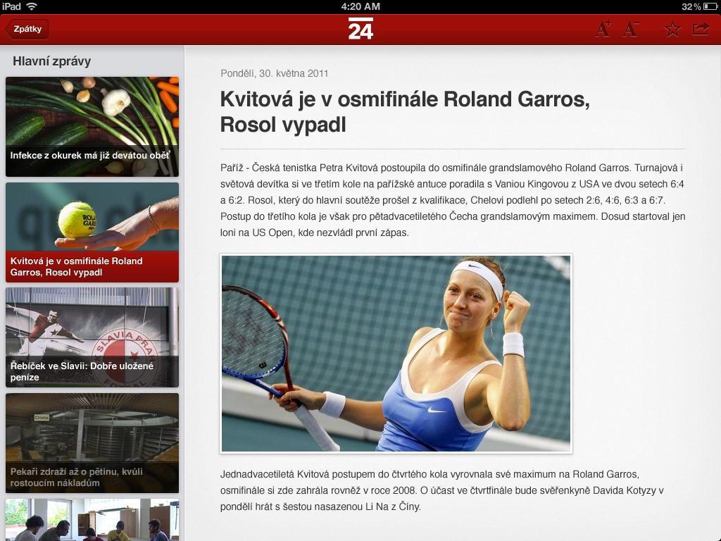 iPad na ČT24