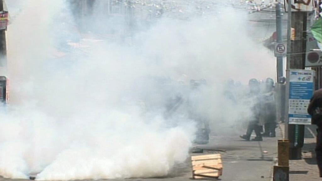Nepokoje v ulicích Mexika