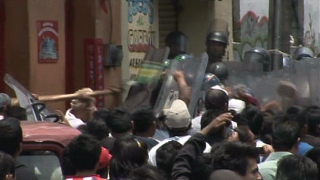 Nepokoje v mexických ulicích