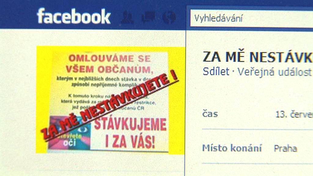 Facebook - Za mě nestávkujete