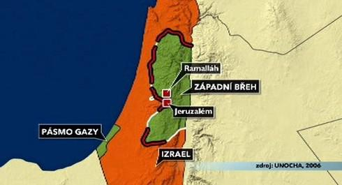 Mapa Izraele