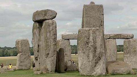 Kamenný monument ve Stonehenge