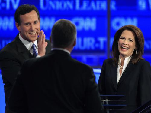 Rick Santorum a Michele Bachmannová