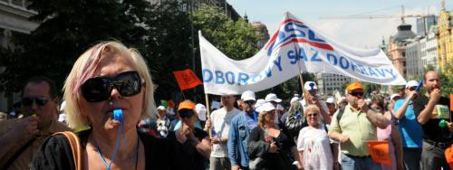 Demonstrace odborových svazů