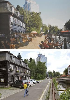 Vize pro město Liberec: dole současný stav, nahoře studentský návrh