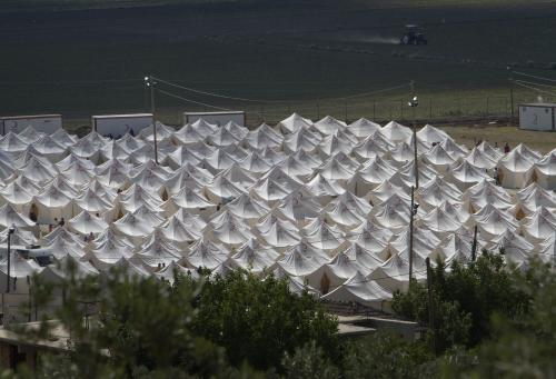 Tábor pro syrské uprchlíky v Turecku