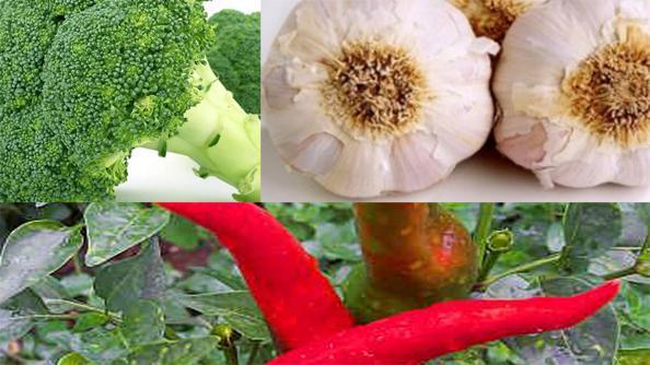 Brokolice, česnek a beraní rohy