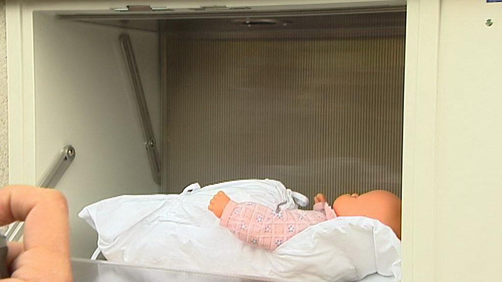 Testování babyboxu - venkovní vstup