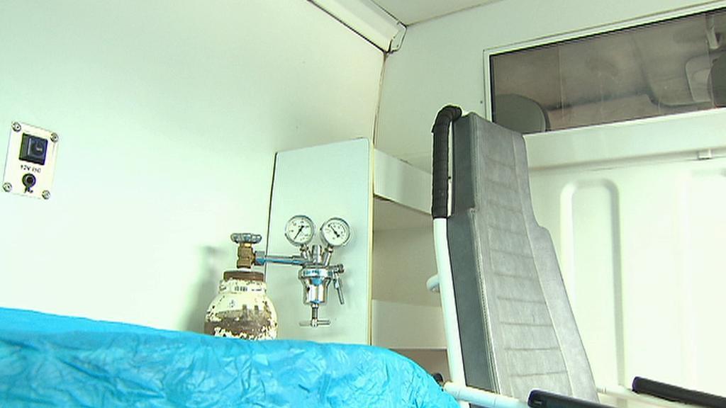 Vnitřní vybavení sanitky