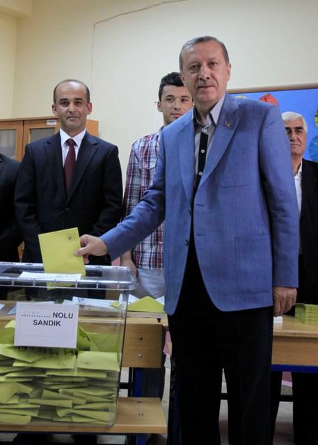 Turecký premiér Recep Erdogan u voleb