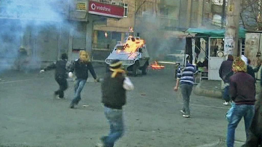 Protest tureckých Kurdů