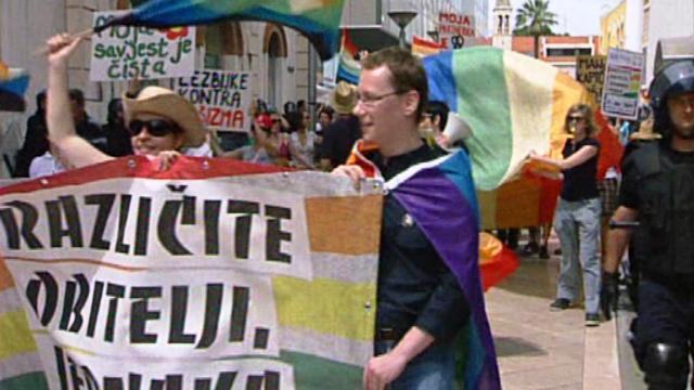 Pochod gayů a leseb ve Splitu