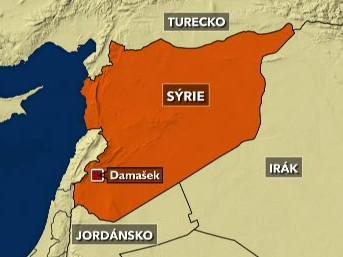 Mapa Sýrie