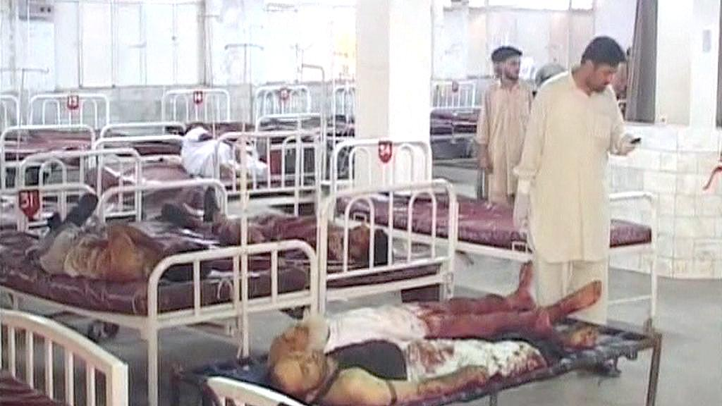 Oběti útoku v Pákistánu