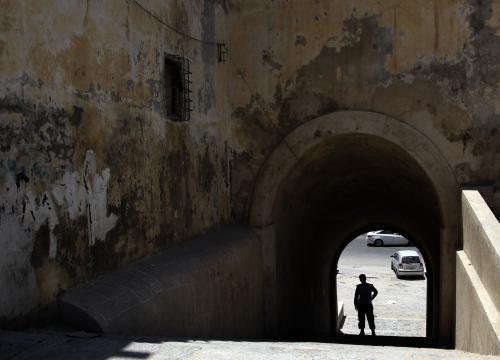 Libyjský policista v Tripolisu