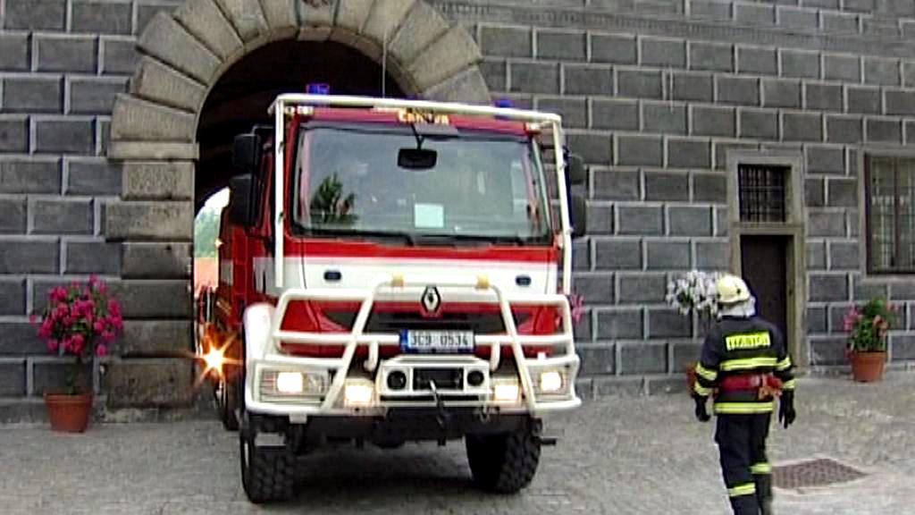 Hasiči na zámku v Českém Krumlově