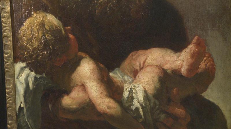 Petr Brandl / Simeon s Ježíškem (detail)