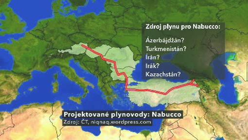Projektovaný plynovod Nabucco