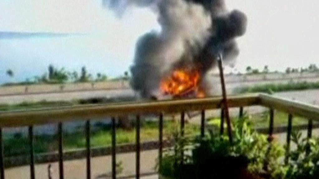 Požár autobusu v Turecku