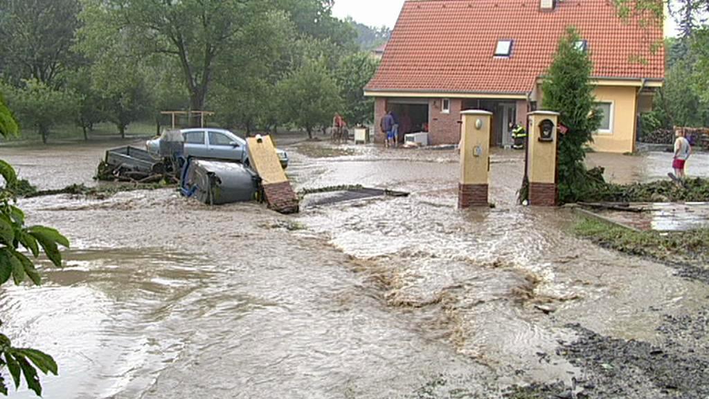 Povodně ve slovenských Malých Karpatech