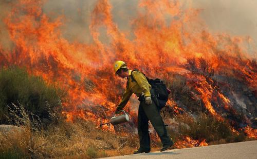 Požár v USA
